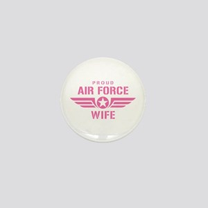 Proud Air Force Wife W [pink] Mini Button